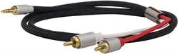3.5 mm Stereo Jack Male to 2 x RCA Male, 3m.